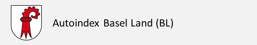 Autoindex Basel Land BL Autokennzeichen