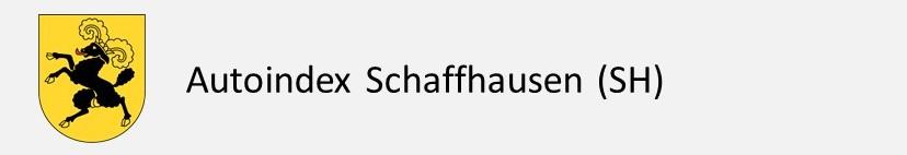 Autoindex Schaffhausen SH Autokennzeichen